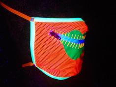 Neon Drag Queen zipper gag mask for Burning Man by madebyjulianne, $35.00