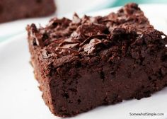 I spent several years in search of the best homemade brownie recipe. My search is over, this is it. I have tried several homemade brownie recipes, and while I am not usually too disappointed in ch