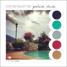 Instapalette #1: Poolside Clouds © Limefish Studio, Photo taken 08.01.12