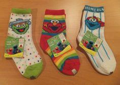 NWT Sesame Street Baby Boys Girls Infant Socks Set of 3 ELMO COOKIE MOSTER OSCAR