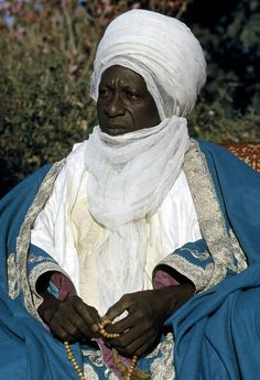 Africa | Sarkin Musulmi alhaji Sir Abubakar, the Sultan of Sokoto.  Sokoto, Nigeria. 1959. | ©Eliot Elisofon.