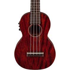 Gretsch Guitars G9110-L Concert Long-Neck Acoustic-Electric Ukulele wi