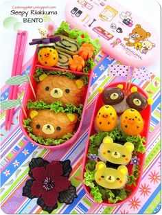 cute animal shaped bento box lunches
