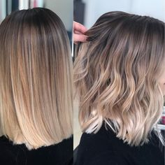 Ardona Beauty Salon on quot;Straight or waves on this Blend Balyage . Ombre Hair Color, Hair Color Balayage, Blonde Balayage, Medium Balayage Hair, Balayage On Short Hair, Honey Balayage, Brown Balayage, Ombre Bob Hair, Bob Hair Color