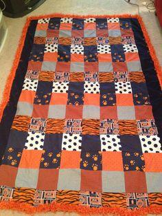 Auburn University Quilt by CraftyPantaloons on Etsy, $110.00