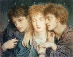 Simeon Solomon, The Sleepers and the One who Watcheth (1870)