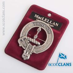 MacLellan Clan Crest Badge. Free worldwide shipping available.