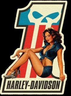 Harley Davidson Pin Up - Bing Images Harley Davidson Logo, Harley Davidson Kunst, Harley Davidson Wallpaper, Harley Davidson Motorcycles, Harley Davidson Tattoos, Harley Davidson Chopper, Harley Bikes, Triumph Motorcycles, Custom Motorcycles