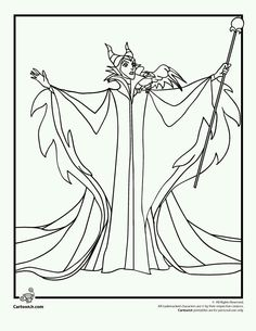 Maleficent Evil Coloring Pages For Kids Printable Sleeping Beauty