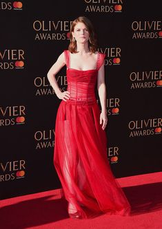 Rose Leslie attends The Olivier Awards 2017 at Royal Albert Hall on April 9, 2017 in London, England.