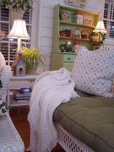 White Throw and Pillow