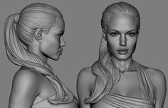 I didnt like her at first. but after the sculpting,, i realize the process is harder than i thought. and quite obvious. especially the cheekbones. Character Modeling, Character Art, Character Design, 3d Modeling, Digital Portrait, Portrait Art, Kendall Jenner Interview, 3d Face Model, Zbrush Hair
