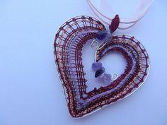 Motýlie krídla by jewart - SAShE. Lace Jewelry, Jewelery, Bobbin Lace Patterns, Lace Heart, Lace Detail, Crochet Earrings, Brooch, Pendant Necklace, Handmade