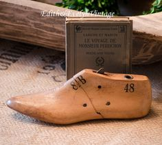 Vintage Wood Shoe Form Mannequin Foot Numbered by edithandevelyn on Etsy