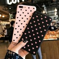 Wish | Fashion Ultra Slim Cute Sweet Love Heart Frosted Hard Back Cover Cartoon Protection Phone Case for iPhone 6 6S 6Plus 6S Plus 7 7Plus