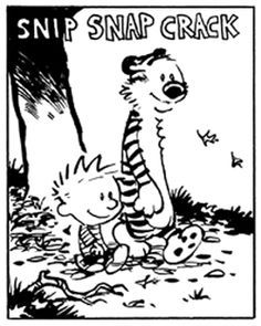 Calvin and Hobbes - SNIP SNAP CRACK... here comes Autumn!