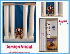 Samson temple columns visual directions