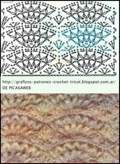 crochet fabric , CROCHET - GANCHILLO - PATRONES - GRAFICOS: PUNTOS FANTASIAS