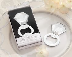 Diamond Bottle Opener - Bling Ring Bridal Shower Favor by Kate Aspen