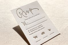 Fun RSVP with cute animal icons