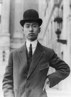 Wellington Koo, Chinese diplomat and a representative to the Paris Peace Conference Old Photos, Vintage Photos, International Court Of Justice, China People, Asian History, Daguerreotype, Chinese Clothing, Western Dresses, Well Dressed Men