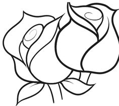 drawing flower easy drawings flowers simple roses plant step draw rose cool coloring pages line sunflower lotus