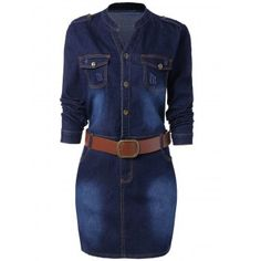 SHARE & Get it FREE | Buttoned Long Sleeve Plus Size Denim DressFor Fashion Lovers only:80,000+ Items·FREE SHIPPING Join Dresslily: Get YOUR $50 NOW!