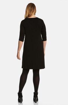 Karen Kane Plus Size Fashion Black Scoop Neck Jersey Dress available @Nordstrom #Karen_Kane #Black #Scoop #Neck #Jersey #Dress #Plus #Size #Womens #LBD #Dress #Fashion #Nordstrom