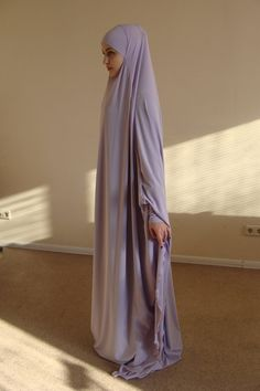 Transformer Lilac Khimar Maxi dress Transformer Iris hijab