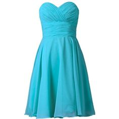 MaliaDress Women Short Sweetheart Party Bridesmaid Dress Prom Gown... ($40) ❤ liked on Polyvore featuring dresses, blue dress, blue bridesmaid dresses, party dresses, short dresses and going out dresses