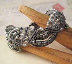 beaded macrame bracelet on etsy