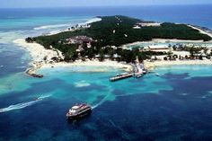 Cococay, Bahamas. This island is reserved exclusively for Royal Caribbean guests. It is truly a tropical paradise island with the white sand and clear, blue water.