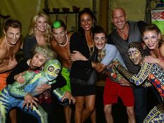 From left to right we have Stephanie Leigh Schlund, Lynn Cohen, Meta Golding, and Bruno Gunn, also some Cirque cast members as well.