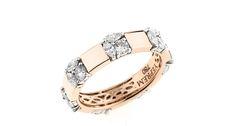 An 18-karat rose gold and white diamond ring from Yeprem