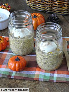 overnight pumpkin oatmeal .. 1/2 cup for breakfast 3.5 points plus packed with nutrition