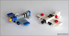 Micro planes and airport: A LEGO®️️ creation by Henning Birkeland : Lego Toys, Lego Duplo, Lego Movie Sets, Lego Plane, Micro Lego, Lego Army, Lego Christmas, Lego Ship, Lego Mecha