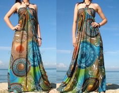 Plus Size Dress Moon Collection Maxi Dress Women by myuniverse, $55.00. This is perfect to take on vacation if your going to the tropics. Hard to find sizes.