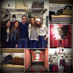 Alumnas del curso Pack Retail con el Profesor Felip Trujillo y sus montajes realizados durante el curso.