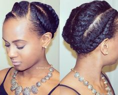 Flat twists more peinados africanos, estilo afro, rizos naturales, pelo afr Protective Hairstyles For Natural Hair, Natural Hair Updo, Natural Hair Journey, Natural Hair Care, 4b Natural Hairstyles, Flat Twist Hairstyles, Braided Hairstyles, Cool Hairstyles, Black Hairstyles