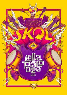 SKOL - Lollapaloza / Bigodon key visual on Behance
