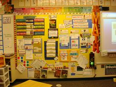 """Math """"focus wall"""" idea, based on EnVisions Upper Elementary. This is a great wall of reference for students as they work. They can even demonstrate how they worked a problem, and support their answer with the content in the classroom."""