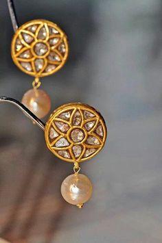 Jadau earrings. Always my favourite.