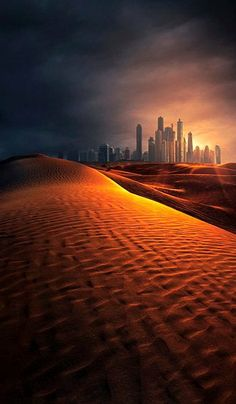 The Desert and The City of Dubai.. (by Mike Andrews on 500px)