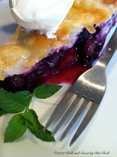 Rich and Sweet by Bia Rich: Lemon Blueberry Pie