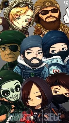 Resultado de imagem para rainbow six siege wallpaper mobile operators Rainbow Six Siege Anime, Rainbow 6 Seige, Rainbow Six Siege Memes, Tom Clancy's Rainbow Six, Rainbow Art, Frost Rainbow Six Siege, Raimbow Six, R6 Wallpaper, Chibi