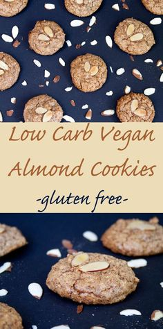 Low Carb Vegan Almond Cookies (gluten free, sugar free) - These healthy cookies are a delicious low carb treat that you don't have to feel guilty about!