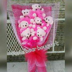 Teddybear bouquet  perfect gift for love ones , we can customize design that u want,  we can also  personalize bouquet using any kind of cartoon character. Regular teddybear 6pcs=Php480.00, 12pcs=Php 960.00, 24pcs= Php 1,920  Character bear 6pcs=Php 600.00,  12pcs =Php1,200.00, 24pcs=Php2,400.00    Delivery fee depends on the location. #hellokittybouquet #stitchbouquet #teddybearbouquet #perfectgifts #surpriseanniversarygift Contact 0906-4252657  No rush order, made to order Fb- forebear…