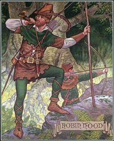 Robin Hood, the legendary thief of England, stole from the rich and gave the wealth to the poor. Stories about his life and adventures first appeared in the late 1400s.