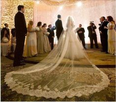 HG 567 Luxury Wedding Cathedral Veils,Long Veils,5 m