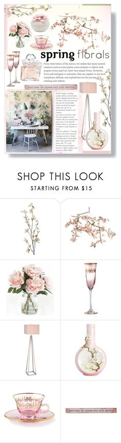 """""""Spring Florals"""" by lillyluvs ❤ liked on Polyvore featuring interior, interiors, interior design, home, home decor, interior decorating, Pier 1 Imports, Canopy Designs, Home Decorators Collection and Catalina"""